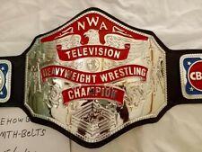 NWA TV belt 4mm Zinc Real leather Championship Belt