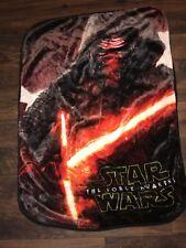 "Star Wars THE FORCE AWAKENS SITH Kylo Fleece Throw Blanket 39"" x 52"" Soft Cuddly"