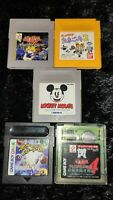 ⭐ Lot Mickey Mouse Tamagotchi 5 Jeux Nintendo Game Boy GB GBC Japan Jap 🎌⭐
