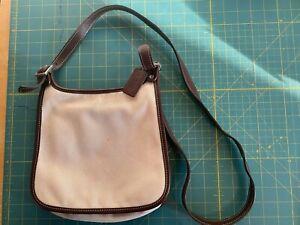 Coach Tan Canvas Small Size Messenger Bag