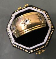 Men's/Women's Stylish 9ct Gold Band/Ring CZ Threestone Ring Size L Stamped W3.7g