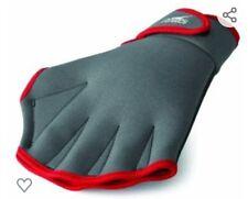 Speedo Aqua Fit Training Swim Gloves - Charcoal/Red - X-Large