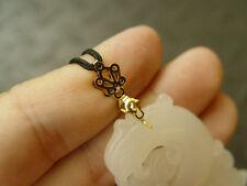 for jade jadeite pendant W49 1Pcs titanium gold jewelry Clasp install