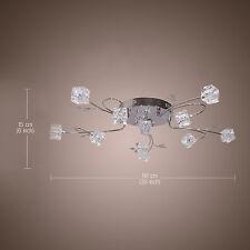 Flush Mount Ceiling Light Fixture Modern Glass Living Room Bedroom Home Design