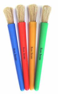 Major Brushes Junior Big Chubby Chunky Artist Poster Paint Bristle Brushes