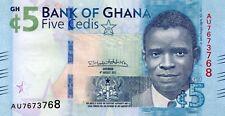 GHANA 5 Cedi 4th August 2017 (2018) P NEW UNC Banknote (new design)