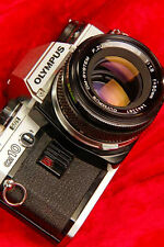 COMPLETE Collectors Classic! OLYMPUS OM10 35mm SLR Film Camera + f1.8 50mm Lens