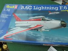 REVELL BAC LIGHTNING F 6 1/72 SCALE MODEL KIT 3 X DECALS