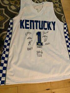 2021-2022 Kentucky Basketball Team Signed Calipari Jersey-BAS Cert 12 Autographs