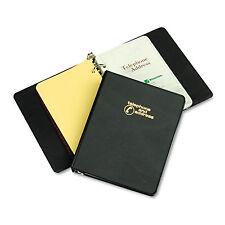 "Wilson Jones Looseleaf Phone/Address Book 1"" Capacity 5 1/2 x 8 1/2 Black Vinyl"