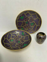 ENESCOSOLID BRASS BOWL 3pc SET COLORFUL ENAMELEDDESIGN MADE IN INDIA