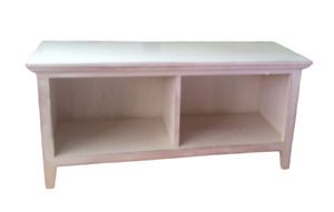 Cubby Hallway Storage Bench 2 Compartment Boot Bench