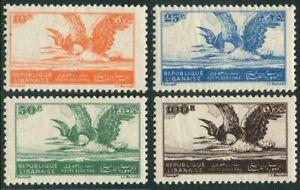 Lebanon C107-C110,lightly hinged.Michel 337-340. Night Herons,1946