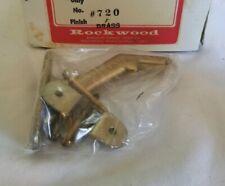 Vintage NOS Rockwood Solid Brass Hand Rail Bracket