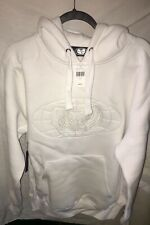Limited Edt. WU-TANG WU-WEAR. White Embroidered Hoodie. Size L.. Rare Find! NWT