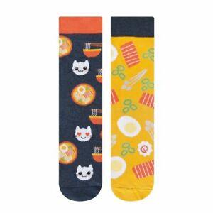 Womens Ramen Noodle Socks with Cat Socks (Pair) Kawaii Gift