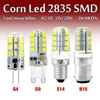 Ultrabright G4/G9/E14/B15 LED Corn Bulb 2835SMD 12/220V Cool Warm White 1/4/8pcs