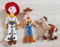 TOY STORY BUNDLE woody BULLSEYE jessie PLUSH TOYS small DISNEY PIXAR soft toys