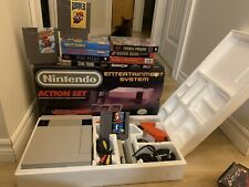 Original Nintendo NES In Original Box with Boxed Games + Mario 1 2 3