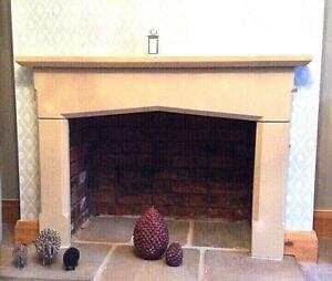 NEW ENGLISH STONE SURROUND  Fireplace Quality Minster Wood Burning Stove