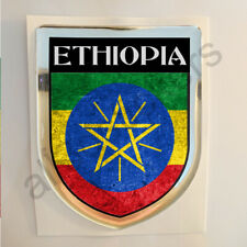 Ethiopia Sticker Resin Domed Stickers Flag Grunge 3D Adhesive Decal Gel Car