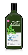 2 X Avalon Organics Strengthening Peppermint Shampoo 325ml