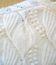 Japanese Vtg 70S White Delicate Tiny Open Weave Textured Net Women Sweater Sz S