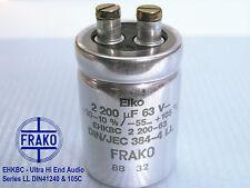 2200uF -63V FRAKO EHKB-Series LL Ultra Hi-End Audio Grade Capacitor  x 4 PIECES