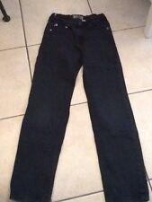 jeans noir delave 12 ans