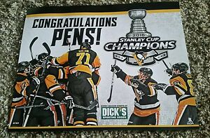 NHL PITTSBURGH PENGUINS 2016 STANLEY CUP CHAMPIONS COMMEMORATIVE POSTER, CROSBY!