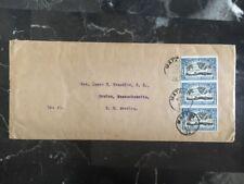1918 Matadi Congo Belge Missionary Cover To Rev. James H. Franklin Boston USA