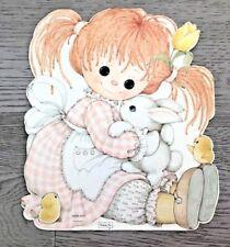 NOS Easter Die Cut Cardboard Decoration Buttons & Bo Artist Bea Hallmark 10 x 8