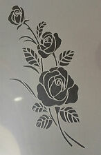 Rose Flower floral A4 Mylar Reusable Stencil Airbrush Painting Art Craft