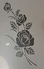 Rose fleur floral A4 mylar réutilisable pochoir aérographe peinture art craft