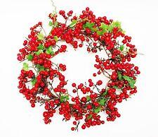 Kranz Beere Beerenkranz Deko Rot 20cm künstlicher Kranz Türkranz Weihnachtskranz