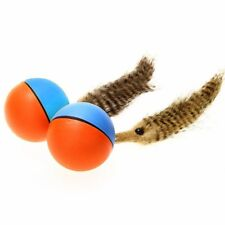 Hot Beaver Weasel Rolling Motor Ball Pet Cat Dog Kids Chaser Jumping Movi Hood