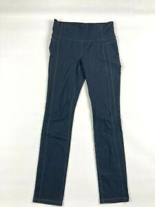 Athleta Activewear Pants M Gray Stretch Straight Up Skinny 138354