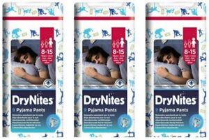 3 X Pannolini mutandina Huggies DryNites Jumbo Boy Pannolino Dry Nites 8-15 ANNI