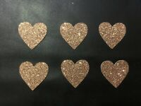 12 Glitter Heart Cupcake Toppers Party Decorations Cupcakes Topper Food Flags