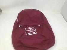 Bethlehem Steel Vintage Maroon Cloth Back Pack Great Shape Free Shipping