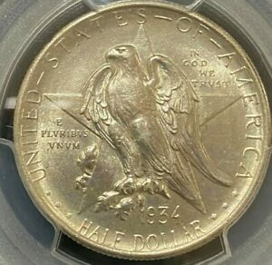 1934 MS62 Texas Commemorative Half Dollar (PGCS)