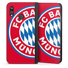Huawei P20 Lite Tasche Hülle Flip Case - großes FC Bayern München Logo Rot