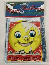 Merry Christmas Replica 50s 60s Cards Laughing Elephant 15 Cards/Envelopes New