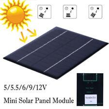 1.5/1.6/2W 12/9/6/5.5/5/2V Solar Panel Module Battery Cell Phone Charger DIY Kit
