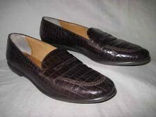 FACONNABLE womens brown reptilian leather loafers shoes size 10 M