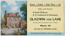 Gladwin & Lane, Coal, Coke Fuel Oils, Westfield, Massachusetts - Ink Blotter