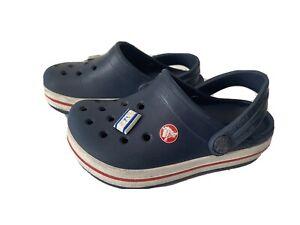 Crocs Baby Shoes Sandals Navy Blue Summer Sz 6 7 Toddler  ~ NICE ~