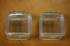 """Hinged Membrane Acrylic Elastic Box 2"""" x 2"""" for Gemstones, Coins, Collectibles"""
