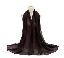 Plain Color Maxi Scarf With Glitter Sparkly Scarf Hijab Shawl Wrap Wedding