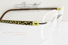 New Silhouette Eyeglass Frames Titan Accent Flora Edition 4543 6065 Citric/Khaki